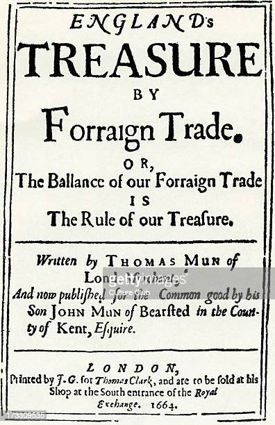 Title page of 'England's Treasure by Forraign Trade or The Balance of our Forraign Trade is The Rule of our Treasure ' by Thomas Mun London TM...