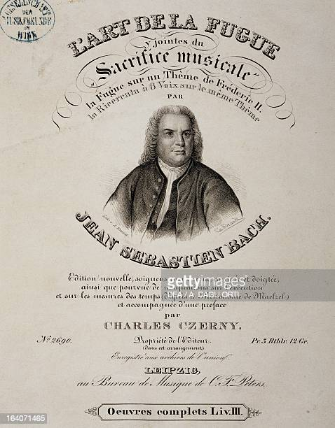 Title page of The art of fugue by Johann Sebastian Bach French edition published in Leipzig Vienna Gesellschaft Der Musikfreunde