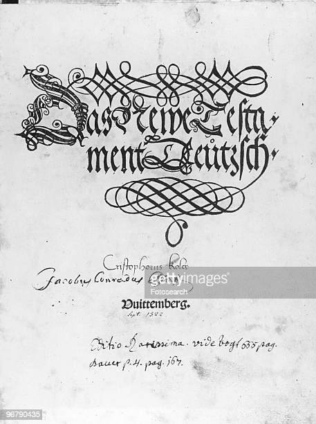 Title page of The New Testament in German dated circa 1522