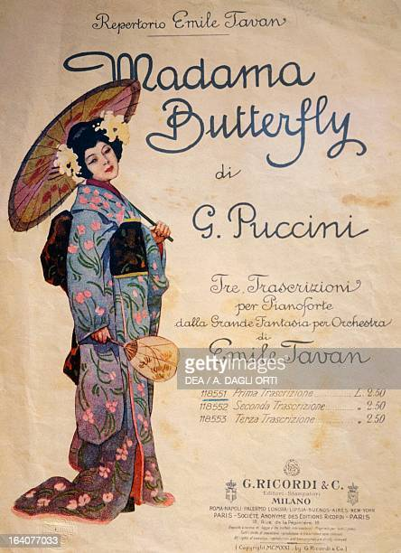 Le Page Of The Piano Transcription By Emile Tavan For Madame Erfly Opera Giacomo Puccini