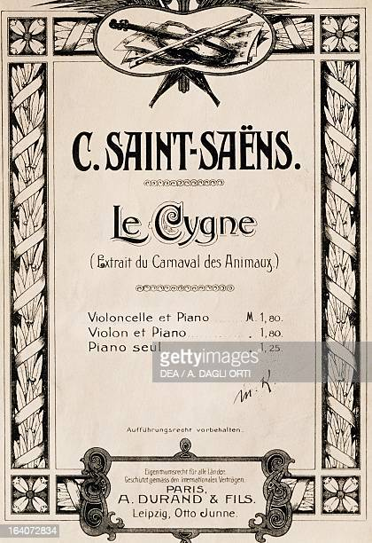 Title page of The Swan from the opera The Carnival of the Animals by Charles Camille SaintSaens Praga Prazska Konzervator