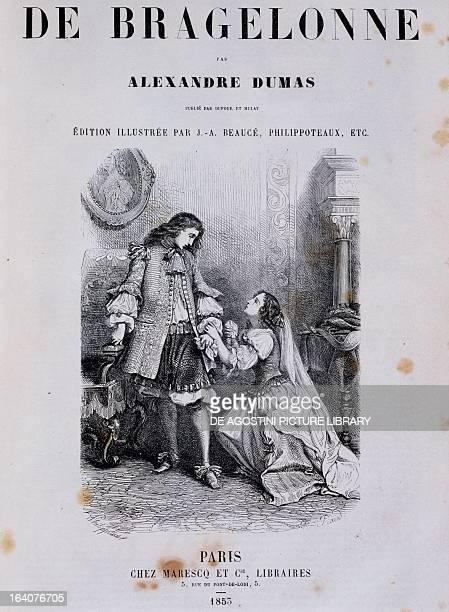 Title page of Viscount de Bragelonne by Alexandre Dumas 1835 edition