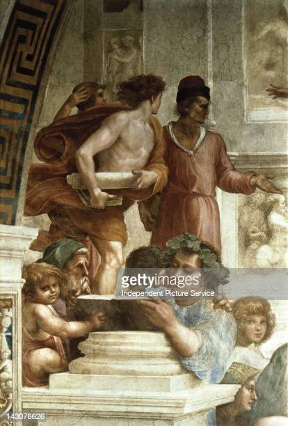 School of Athens Ca 15101512 Detail of a mural by Raphael painted for Pope Julius IIVatican Palace Rome