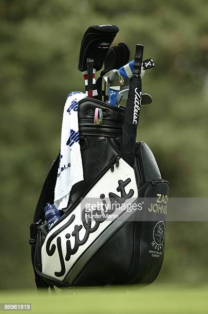 Leist Bag During The First Round Of Memorial Tournament Presented By Morgan Stanley At Muirfield