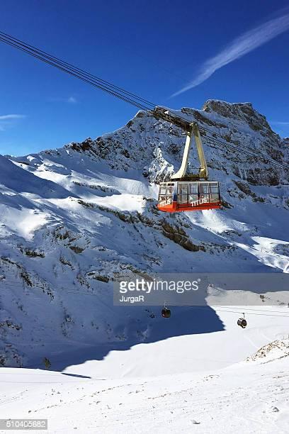Titlis Kabel Auto im Winter Engelberg, Schweiz