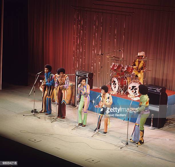 Tito Jackie Marlon Michael and Jermaine Jackson of the Jackson Five perform on stage at the Palladium in London England in November 1972