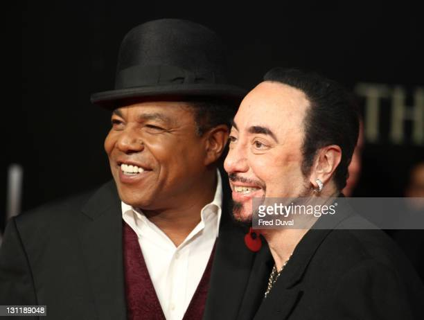 Tito Jackson and David Gest attend the UK premiere of 'Michael Jackson The Life Of An Icon' at Empire Leicester Square on November 2 2011 in London...
