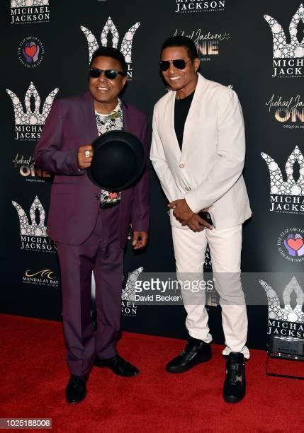 Tito Jackson and Jackie Jackson attend the Michael Jackson diamond birthday celebration at Mandalay Bay Resort and Casino on August 29 2018 in Las...