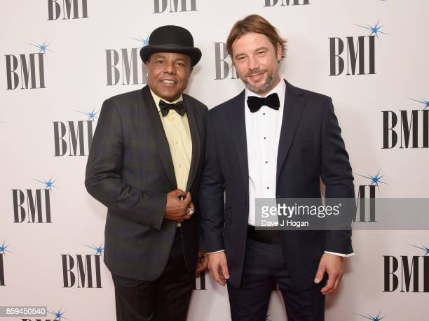 Tito Jackson and Jay Kay of Jamiroquai attend the BMI London Awards at The Dorchester on October 9 2017 in London England