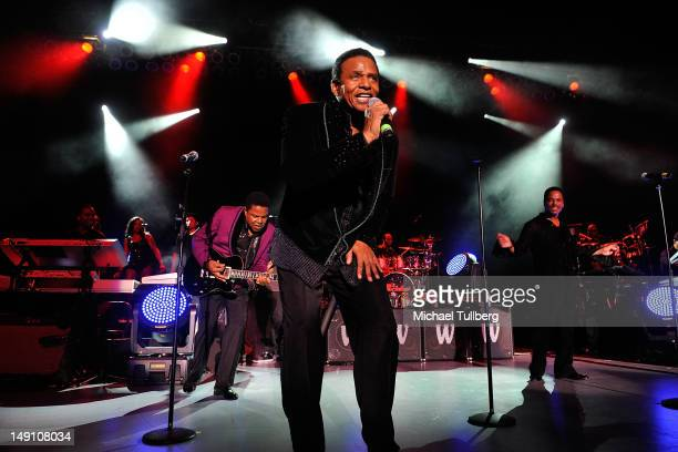 Tito Jackson Jackie Jackson and Marlon Jackson of The Jacksons perform live at The Greek Theatre on July 22 2012 in Los Angeles California