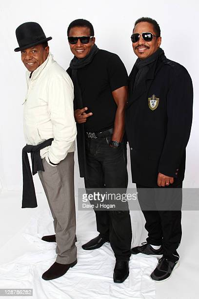 Tito Jackson Jackie Jackson and Marlon Jackson pose for a portrait backstage at the 'Michael Forever' concert to remember the late Michael Jackson at...