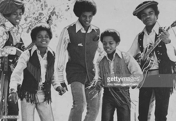 Tito Jackson lead singer Michael Jackson Jackie Jackson and Jermaine Jackson 1975