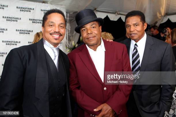 Tito Jackson Marlon Jackson and Jackie Jackson attend the 2010 BarnstableBrown gala on April 30 2010 in Louisville Kentucky