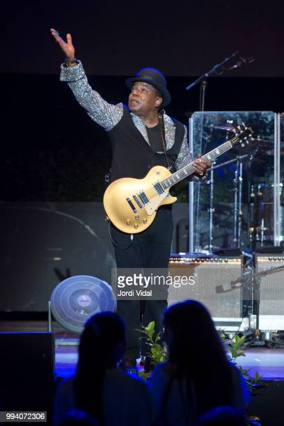 Tito Jackson of The Jacksons performs on stage during Festival Jardins Palau de Pedralbes on July 8 2018 in Barcelona Spain