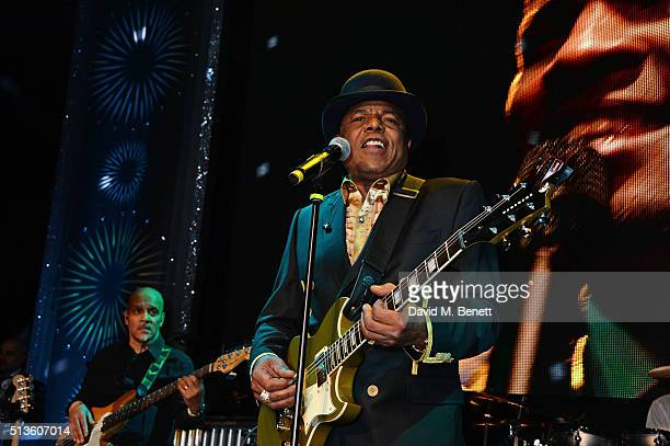 Tito Jackson performs at 'A Night Of Motown' for Save The Children UK at The Roundhouse on March 3 2016 in London England