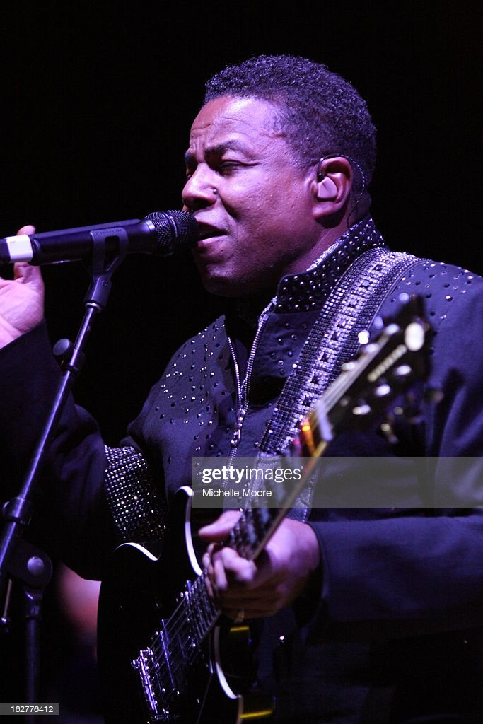 Tito Jackson performs at NIA Arena on February 26, 2013 in Birmingham, England.