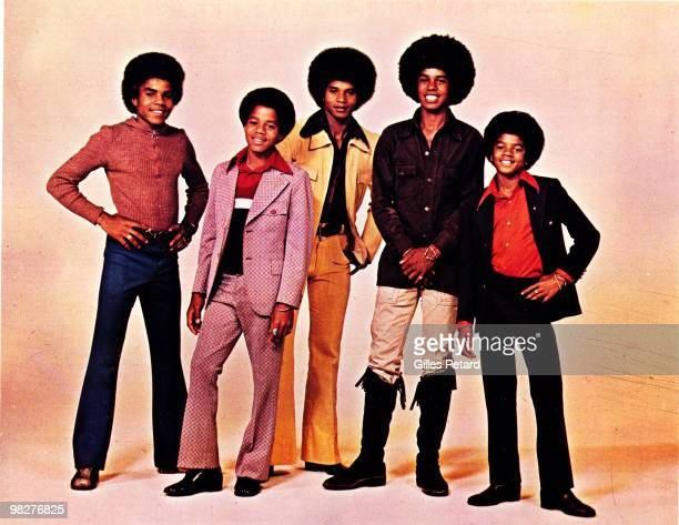 LR Tito Marlon Jackie Jermaine and Michael Jackson of The Jackson Five pose for a studio group portrait in 1973 in the United States
