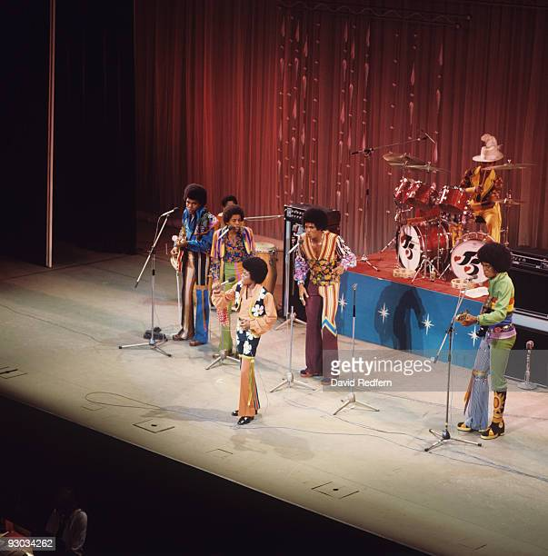 Tito Marlon Michael Jackie and Jermaine Jackson of the Jackson Five perform on stage at the Palladium in London England in November 1972