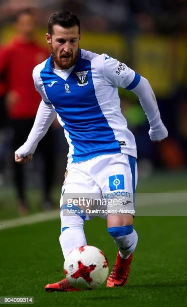 Tito of Leganes in action during the Copa del Rey Round of 16 second Leg match between Villarreal CF and Leganes at Estadio de La Ceramica on January...