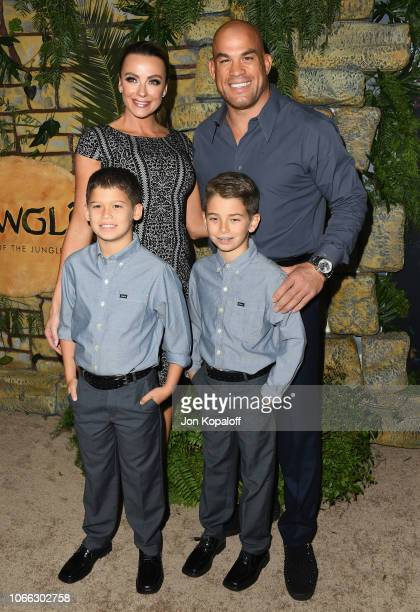 Tito Ortiz Amber Nichole Miller and family attend the premiere of Netflix's 'Mowgli' at ArcLight Hollywood on November 28 2018 in Hollywood California