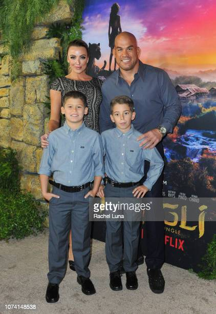 Tito Ortiz Amber Nichole Miller and his family attend the premiere of Netflix's 'Mowgli' at ArcLight Hollywood on November 28 2018 in Hollywood...