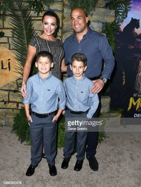 Tito Ortiz Amber Nichole Miller arrives at the Premiere Of Netflix's 'Mowgli' at ArcLight Hollywood on November 28 2018 in Hollywood California