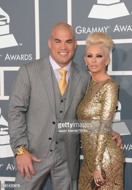 Tito Ortiz and actress Jenna Jameson arrive at the 55th Annual GRAMMY Awards at Staples Center on February 10 2013 in Los Angeles California
