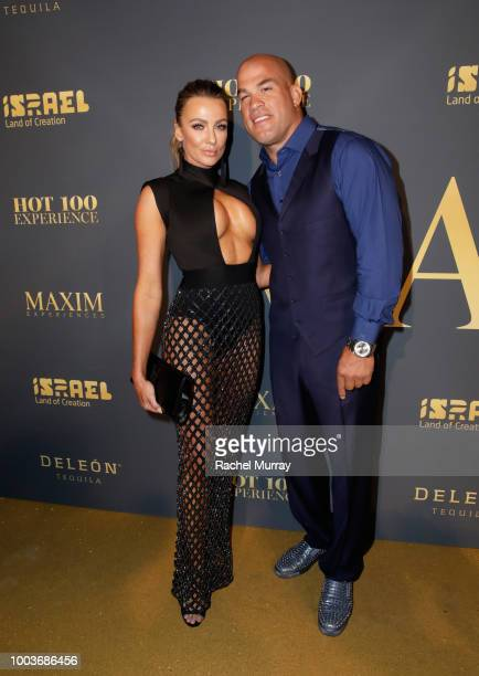 Tito Ortiz and Amber Miller attend The 2018 Maxim Hot 100 Party at Hollywood Palladium on July 21 2018 in Los Angeles California