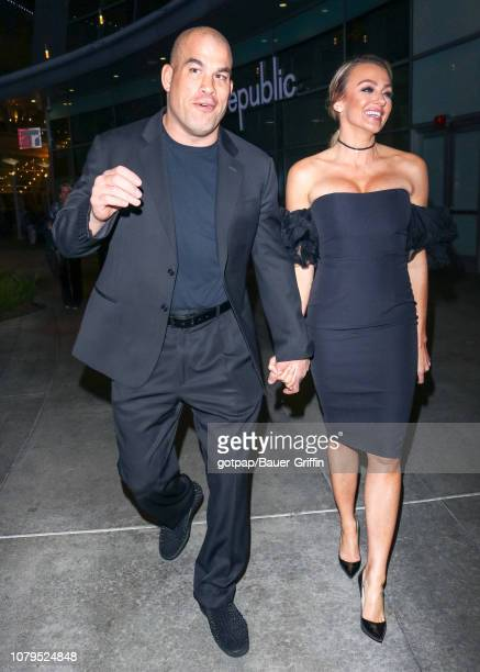 Tito Ortiz and Amber Nichole Miller are seen on January 08 2019 in Los Angeles California