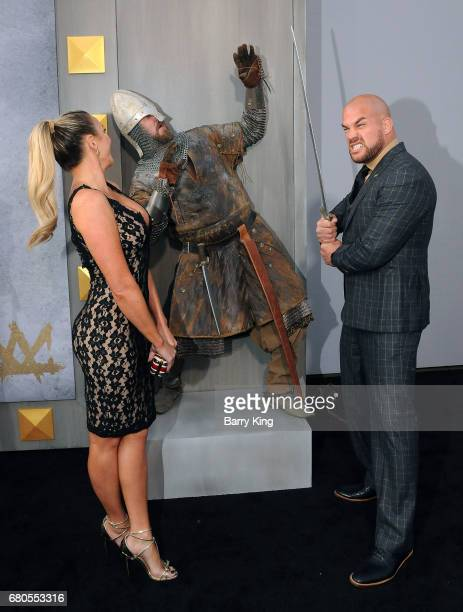 Tito Ortiz and Amber Nichole Miller attend world premiere of Warner Bros Pictures' 'King Arthur Legend Of The Sword' at TCL Chinese Theatre on May 8...