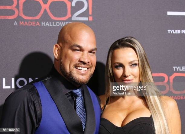 Tito Ortiz and Amber Nicole Miller arrive at Lionsgate's 'Tyler Perry's Boo 2 A Madea Halloween' held at Regal LA Live Stadium 14 on October 16 2017...