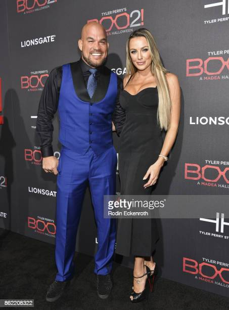 Tito Ortiz and Amber Nicole Miller arrive at the premiere of Lionsgate's 'Tyler Perry's Boo 2 A Madea Halloween' at Regal LA Live Stadium 14 on...
