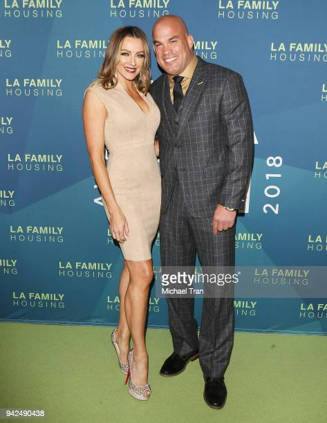 Tito Ortiz and Amber Nicole Miller arrive to the 2018 LA Family Housing Awards held at The Lot in West Hollywood on April 5 2018 in West Hollywood...