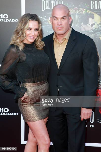 Tito Ortiz and Amber Nicole Miller attend the premiere of Columbia Pictures' 'Sicario Day Of The Soldado' at Regency Village Theatre on June 26 2018...