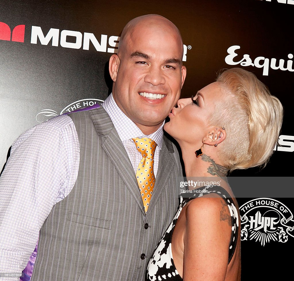 Tito Ortiz and Jenna Jameson attend the 'House of Hype' Monster Grammy party at SLS Hotel on February 10, 2013 in Los Angeles, California.
