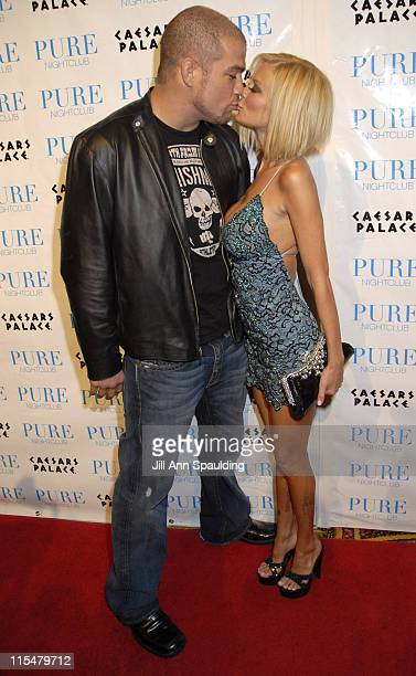 Tito Ortiz and Jenna Jameson during Jenna Jameson Hosts a Surprise Birthday Party for MMA Champ Tito Ortiz January 23 2007 at Pure Nightclub in Las...