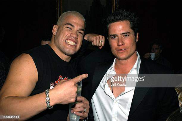 Tito Ortiz Andrew Firestone during 2003 MTV Movie Awards Backstage and Audience at The Shrine Auditorium in Los Angeles California United States