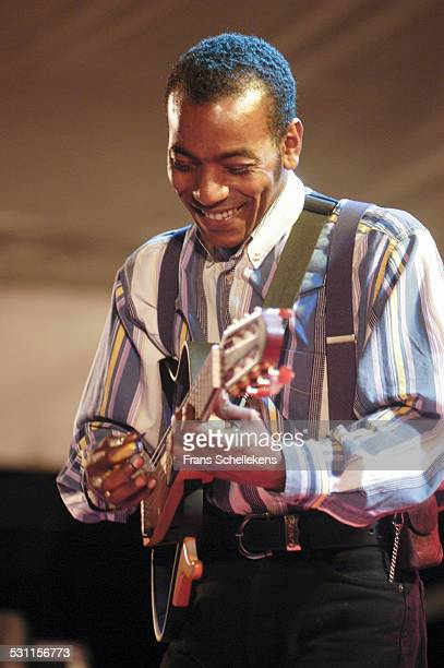 Tito Paris, guitar and vocals, performs at Africa Festival on June 29th 2003 in Hertme, the Netherlands.
