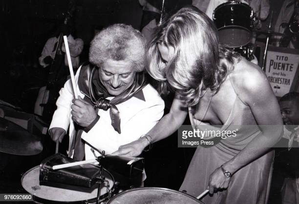 Tito Puente and Margaux Hemingway circa 1979 in New York