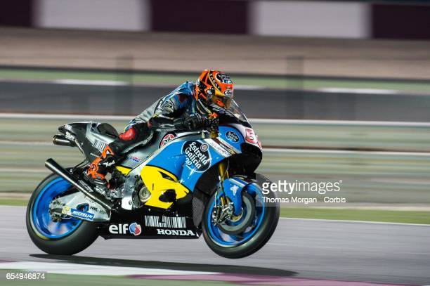 Tito Rabat of Spain who rides Honda for Marc VDS Racing Team during the final MotoGP winter test at Losail International Circuit on March 10 2017 in...