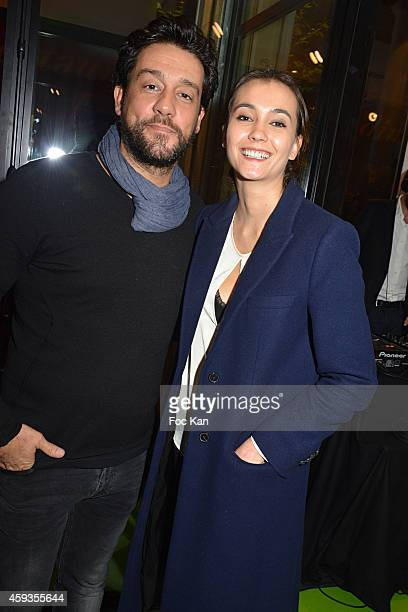 Titoff and PR Marine Girard attend the Acer Pop Up Store Launch Party at Les Halles on November 20, 2014 in Paris, France.