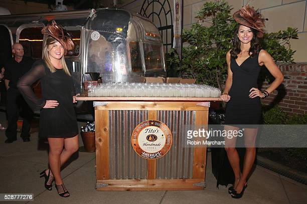Titos Handmade Vodka on display at The 6th Annual Fillies Stallions Kentucky Derby party hosted by Black Rock Thoroughbreds along with Tito's Vodka...