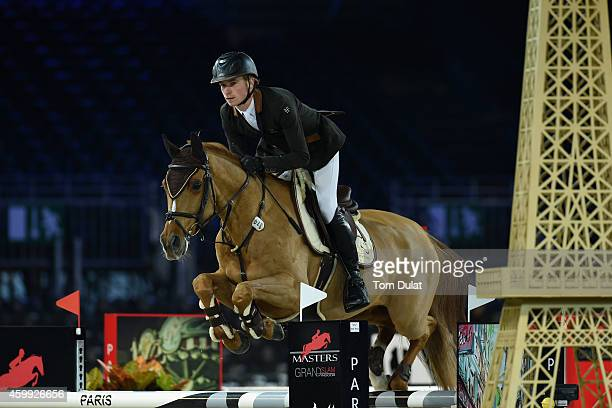 Titouan Schumacher from France rides Quinquet d'Ivraie at the Feel Green Prize Prestige Trophy as part of the Gucci Paris Masters 2014 on December 4...
