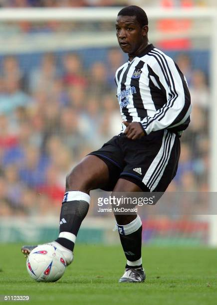Titus Bramble of Newcastle in action during the preseason friendly match between Ipswich Town and Newcastle United at Portman Road on July 28 2004 in...