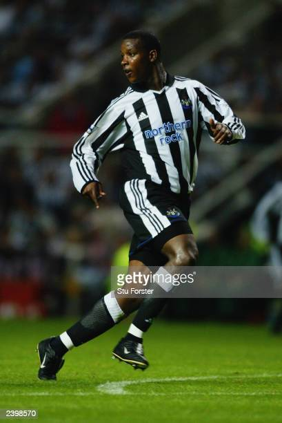 Titus Bramble of Newcastle United in action during the PreSeason Friendly match between Newcastle United and FC Bayern Munich held on August 5 2003...