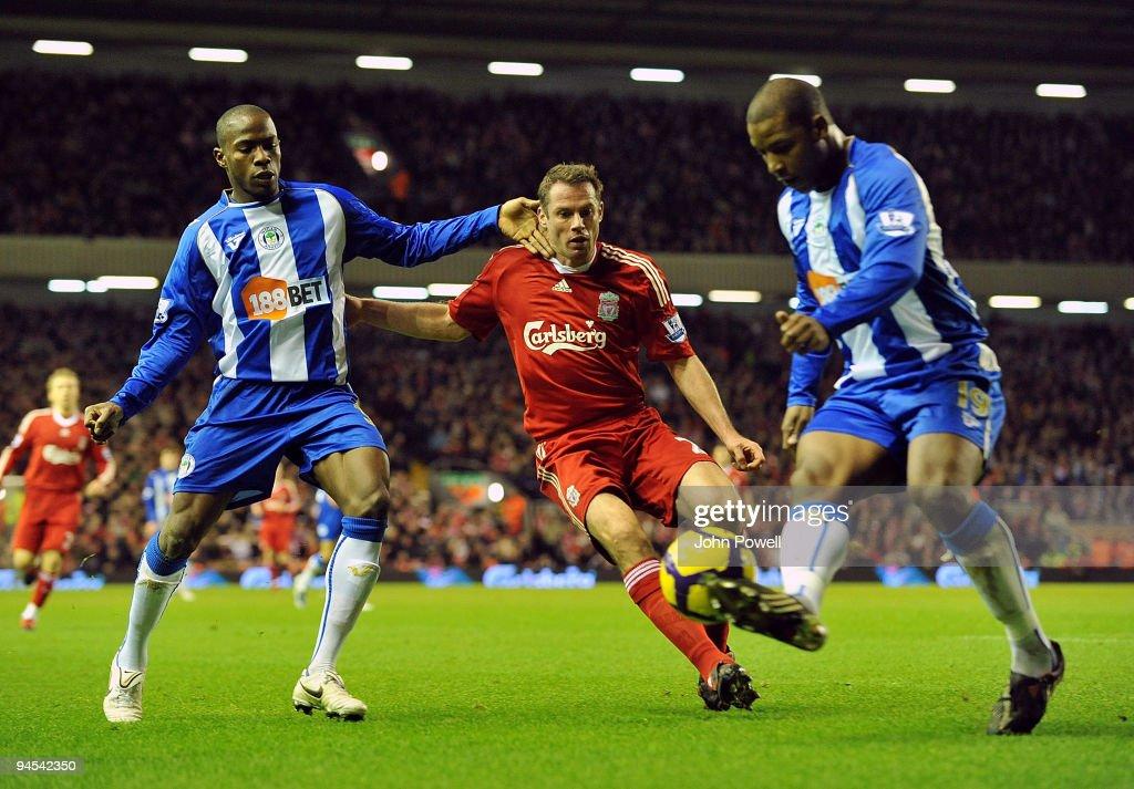 Liverpool v Wigan Athletic - Premier League : News Photo