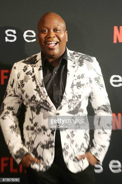 Titus Burgess attend the Season 2 Premiere of Netflix's Sense8 at AMC Lincoln Square Theater on April 26 2017 in New York City