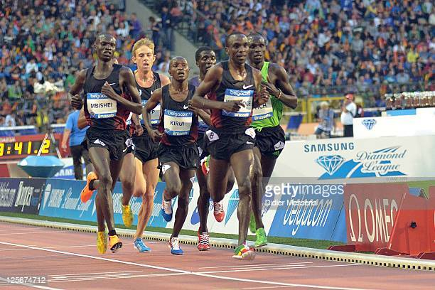 Titus Kipjumba Mbishei and Geoffrey Kirui from Kenya compete on the 10 000m men during the IAAF Golden League Memorial Van Damme meet at the King...