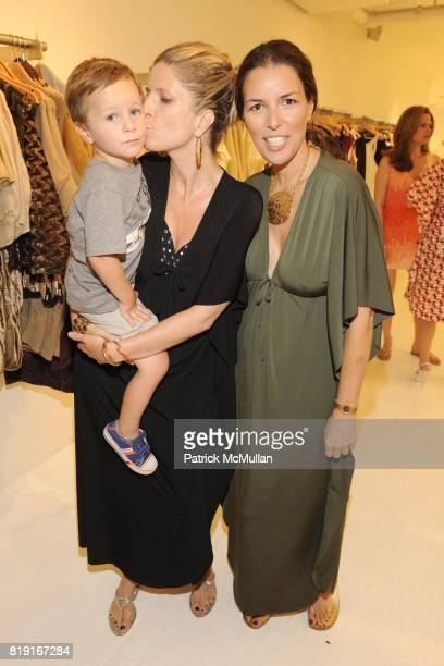 Titus Rellie Lucy Sykes and Ann Caruso attend SCOOP Beach Hosts JOANNE SALT'S New Collection JOSA TULUM at Scoop Beach on July 24th 2010 in East...