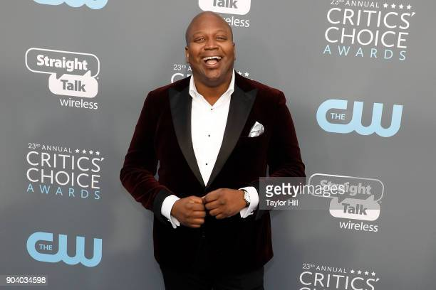 Tituss Burgess attends the 23rd Annual Critics' Choice Awards at Barker Hangar on January 11 2018 in Santa Monica California